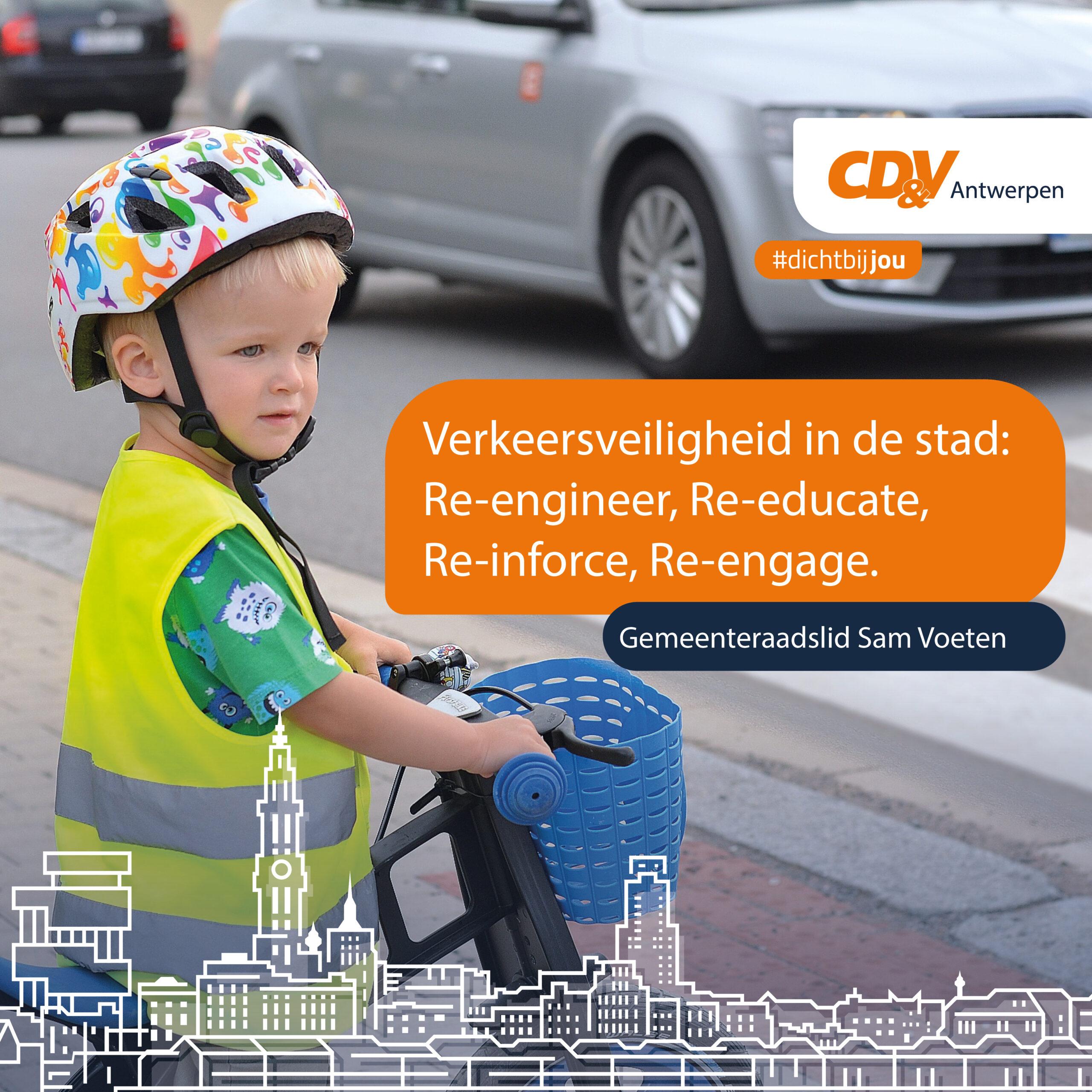 Verkeersveiligheid in de stad: Re-engineer, Re-educate, Re-inforce, Re-engage.